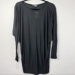 Vince black batwing long sleeve top